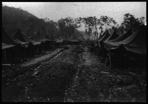 Scene from U.S. Army, 27th General Hospital (row of tents)